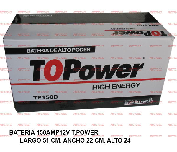 BATERIA 150AMP12V T.POWER