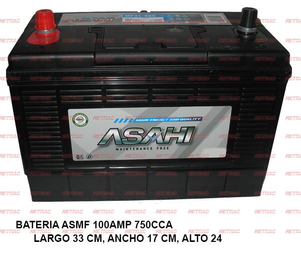 BATERIA ASMF 100AMP 750CCA