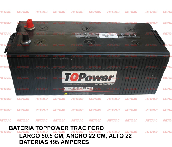 BATERIA TOPPOWER TRAC FORD